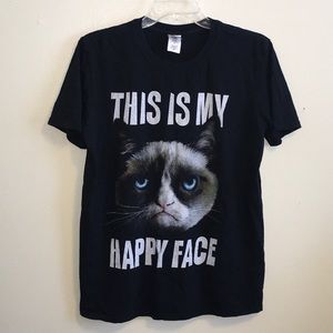 """This is my happy face"" tee"
